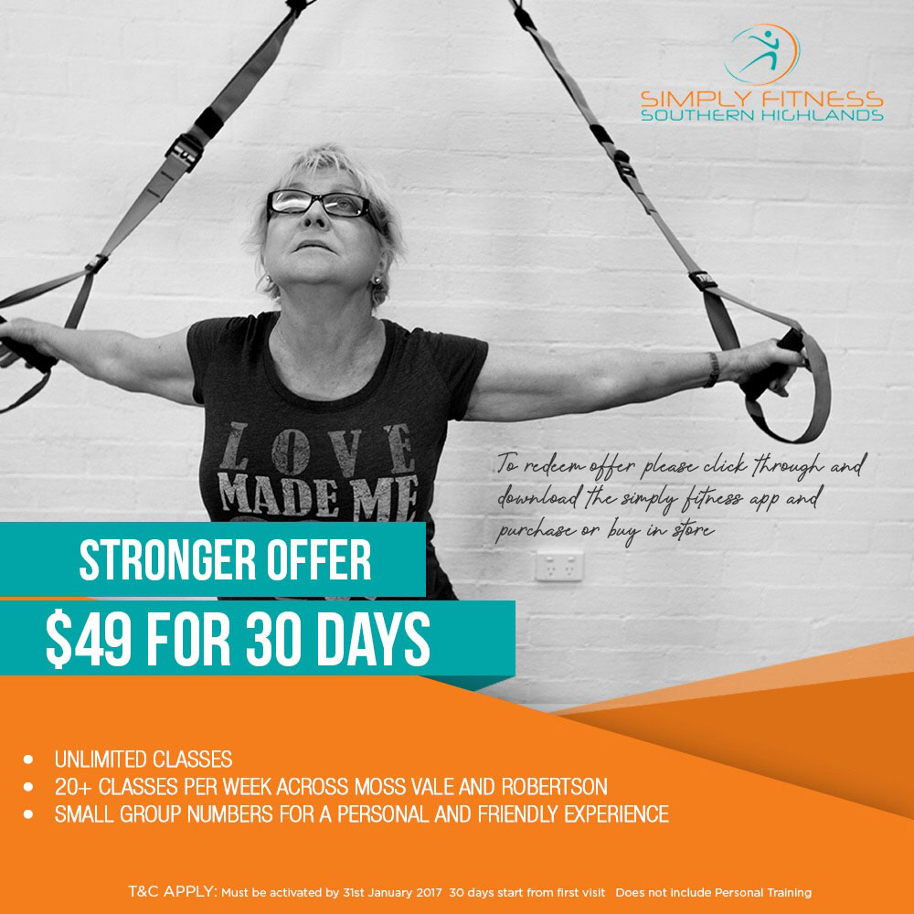 Simply Fitness Southern Highlands, February Fitness Deal